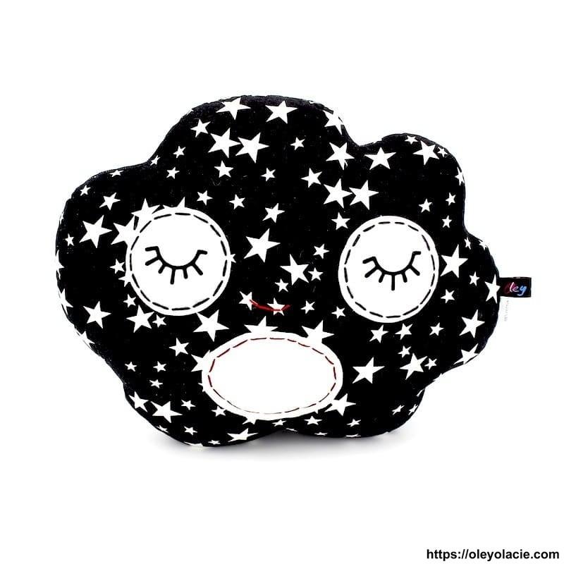 Coussin nuage noir - 1