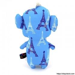 Peluche singe bleu ciel - 2