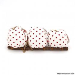 3 hiboux taille M Personnalisation offerte - Hiboux Chouettes en tissus posés sur une branche à suspendre. Ce chouette hibou est