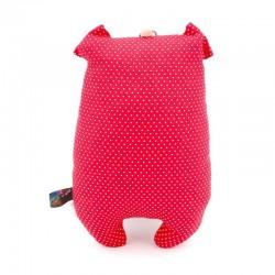 Peluche cochon rouge gros groin - 2
