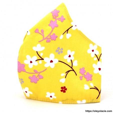 Masque alternatif Sakura adulte - 1 - Masques alternatifs - Masques alternatifs en tissu à pois adulte - Oley Ola cie ® -