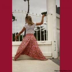 copy of Sarouel femme Bollywood - 3 - Sarouel - Sarouel femme - Oley Ola cie® - Voile de coton imprimé Bollywood et doublé -