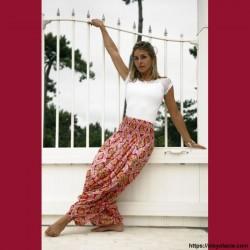 copy of Sarouel femme Bollywood - 1 - Sarouel - Sarouel femme - Oley Ola cie® - Voile de coton imprimé Bollywood et doublé -