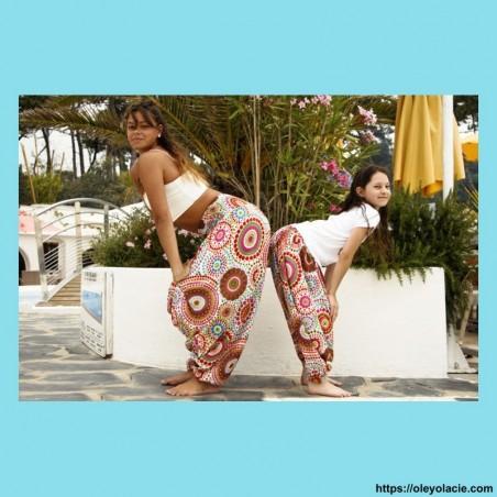 Sarouel femme polka-dot - 6 - Sarouel - Sarouel femme - Oley Ola cie® - Voile de coton imprimé polka-dot et doublé -