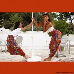 Sarouel enfant Bollywood ❤️ - 1 - Sarouel - Sarouel enfant 8-12 ans - Oley Ola cie® - Voile de coton imprimé polka-dot -