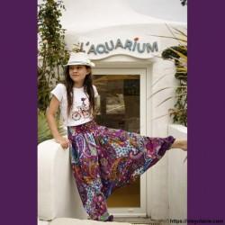 Sarouel enfant Bollywood ❤️ - 5 - Sarouel - Sarouel enfant 8-12 ans - Oley Ola cie® - Voile de coton imprimé polka-dot -