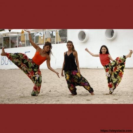 Sarouel enfant 8-12 ans hibiscus ❤️ - Oley Ola cie ®
