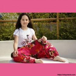 copy of Sarouel enfant sunshine ❤️ - 1 - Sarouel - Sarouel enfant 8-12 ans - Oley Ola cie® - Voile de coton imprimé sunshine -