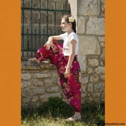 Sarouel enfant aquarelle ❤️ - 2 - Sarouel - Sarouel enfant 8-12 ans - Oley Ola cie® - Voile de coton imprimé aquarelle -