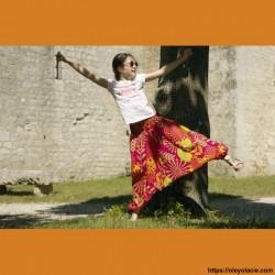 Sarouel enfant sunshine ❤️ - 4 - Sarouel - Sarouel enfant 8-12 ans - Oley Ola cie® - Voile de coton imprimé sunshine -