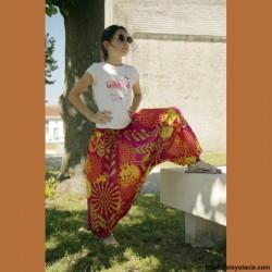 Sarouel enfant sunshine ❤️ - 5 - Sarouel - Sarouel enfant 8-12 ans - Oley Ola cie® - Voile de coton imprimé sunshine -