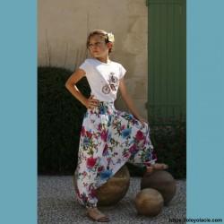 Sarouel enfant Boho ❤️ - 3 - Sarouel - Sarouel enfant 8-12 ans - Oley Ola cie® - Voile de coton imprimé Boho -