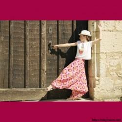 Sarouel enfant Afrikaans ❤️ - 1 - Sarouel - Sarouel enfant 8-12 ans - Oley Ola cie® - Voile de coton imprimé aquarelle -