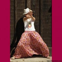 Sarouel enfant Afrikaans ❤️ - 2 - Sarouel - Sarouel enfant 8-12 ans - Oley Ola cie® - Voile de coton imprimé aquarelle -