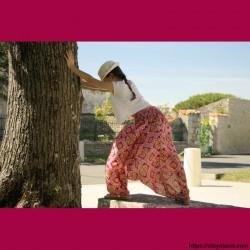 Sarouel enfant Afrikaans ❤️ - 4 - Sarouel - Sarouel enfant 8-12 ans - Oley Ola cie® - Voile de coton imprimé aquarelle -
