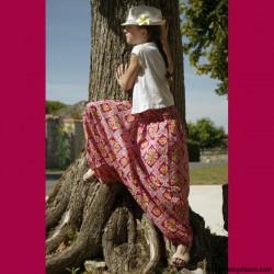Sarouel enfant Afrikaans ❤️ - 6 - Sarouel - Sarouel enfant 8-12 ans - Oley Ola cie® - Voile de coton imprimé aquarelle -