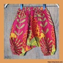 Sarouel bébé sunshine ❤️ - 5 - Sarouel - Sarouel Bébé 6 -18 mois - Oley Ola cie® - Voile de coton imprimé sunshine -
