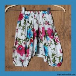 Sarouel bébé hibiscus ❤️ - 1 - Sarouel - Sarouel Bébé 6 -18 mois - Oley Ola cie® - Voile de coton imprimé hibiscus -