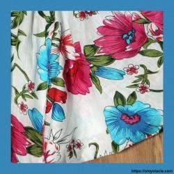 Sarouel bébé hibiscus ❤️ - 2 - Sarouel - Sarouel Bébé 6 -18 mois - Oley Ola cie® - Voile de coton imprimé hibiscus -