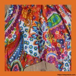 Sarouel bébé Bollywood ❤️ - 2 - Sarouel - Sarouel Bébé 6 -18 mois - Oley Ola cie® - Voile de coton imprimé Bollywood -