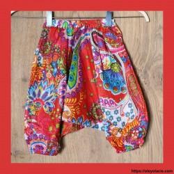 Sarouel enfant Bollywood ❤️ - 1 - Sarouel - Sarouel enfant - Oley Ola cie® - Voile de coton imprimé -