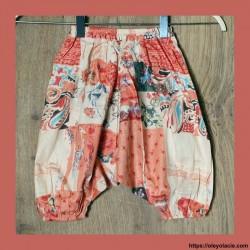 copy of Sarouel enfant 3-6 ans sunshine ❤️ - 2 - Sarouel - Sarouel enfant 3-6 ans - Oley Ola cie® - Voile de coton imprimé sunsh