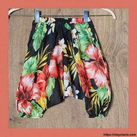 Sarouel enfant hibiscus 3-6 ans ❤️ - Oley Ola cie ®