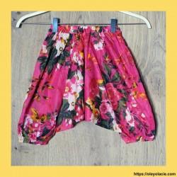 copy of Sarouel enfant hibiscus 3-6 ans ❤️ - 1 - Sarouel - Sarouel enfant 3-6 ans - Oley Ola cie® - Voile de coton imprimé hibis