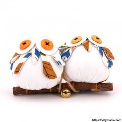 copy of Couple 2 hiboux taille M coloris orange - 1 - Les moyens - Couple 2 hiboux taille M coloris orange - Oley Ola cie ®  à p