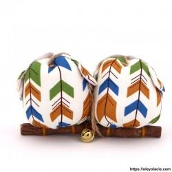 copy of Couple 2 hiboux taille M coloris orange - 2 - Les moyens - Couple 2 hiboux taille M coloris orange - Oley Ola cie ®  à p