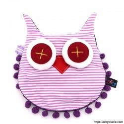 besace hibou coloris violet - 4 - Besaces hibou - Besace hibou coloris violet - Oley Ola cie ® -
