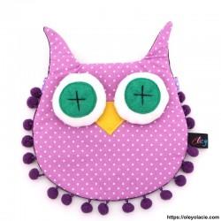 besace hibou coloris violet - 6 - Besaces hibou - Besace hibou coloris violet - Oley Ola cie ® -