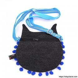 Besace hibou grands yeux coloris bleu - 9 - Besaces hibou - Besace hibou aux grands yeux coloris violet - Oley Ola cie ® -