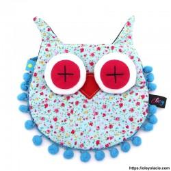 Besace hibou grands yeux coloris bleu - 13 - Besaces hibou - Besace hibou aux grands yeux coloris violet - Oley Ola cie ® -