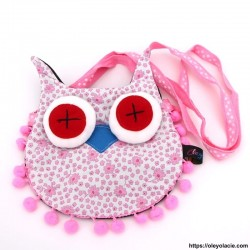 copy of Besace hibou grands yeux coloris bleu - 4 - Besaces hibou - Besace hibou aux grands yeux coloris bleu - Oley Ola cie ® -
