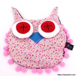 Besace hibou grands yeux coloris rose - Oley Ola cie ®