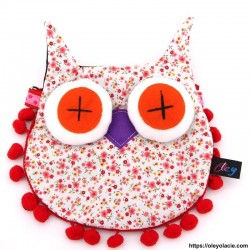copy of Besace hibou grands yeux coloris rose - 1 - Besaces hibou - Besace hibou aux grands yeux coloris rose - Oley Ola cie ® -