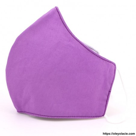 Masque alternatif uni adulte - 8 - Masques adultes - Masques alternatifs en tissu unis adulte - Oley Ola cie ® -