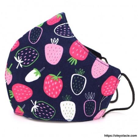 Masque alternatif fruits adulte - 2 - Masques adultes - Masques alternatifs en tissu fruits adulte - Oley Ola cie ® -