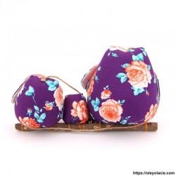 Famille 3 hiboux LSM coloris violet - Oley Ola cie ®