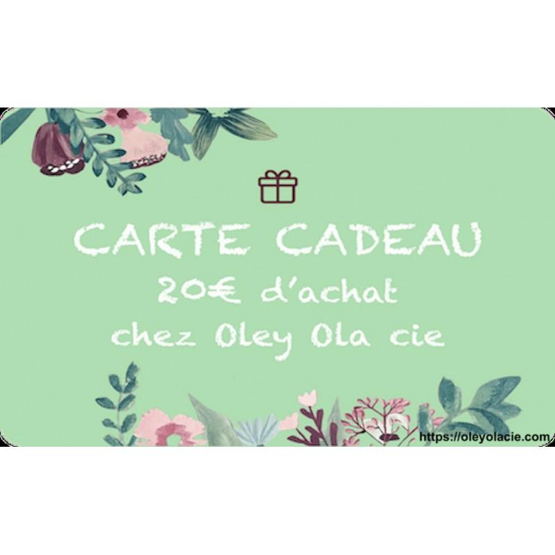 Carte cadeau 20€ - Oley Ola cie ®