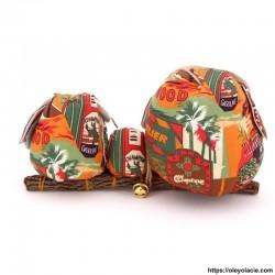 Famille 3 hiboux LSM coloris marron - Oley Ola cie ®