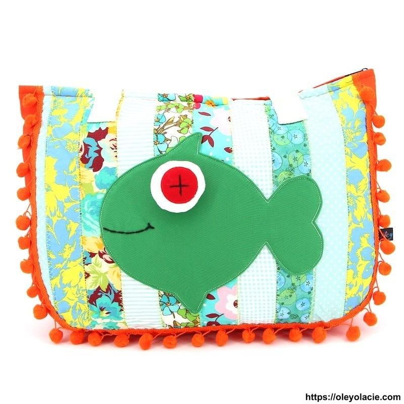Sac Patchwork motif poisson - Oley Ola cie ®