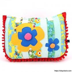 Sac Patchwork motif fleurs