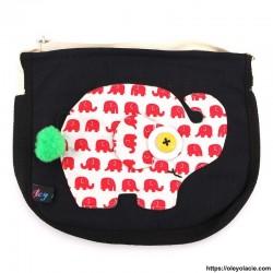 Besace éléphant - Oley Ola cie ®