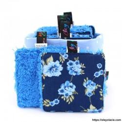 Lingettes lavables carrés et sa box ☀️ motif floral