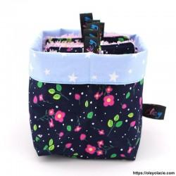 Lingettes lavables carrés et sa box ☀️ motif floral - Oley Ola cie ®