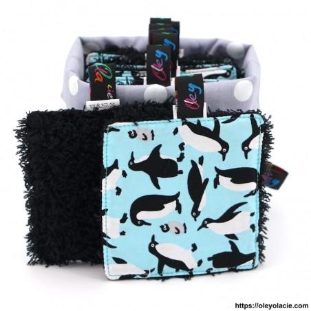 Lingettes lavables carrés et sa box ☀️ motif animaux - Oley Ola cie ®