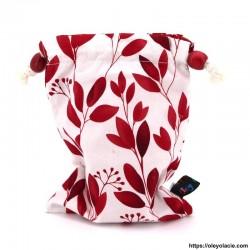 Lingettes lavables nomades ☀️ motif feuilles - Oley Ola cie ®