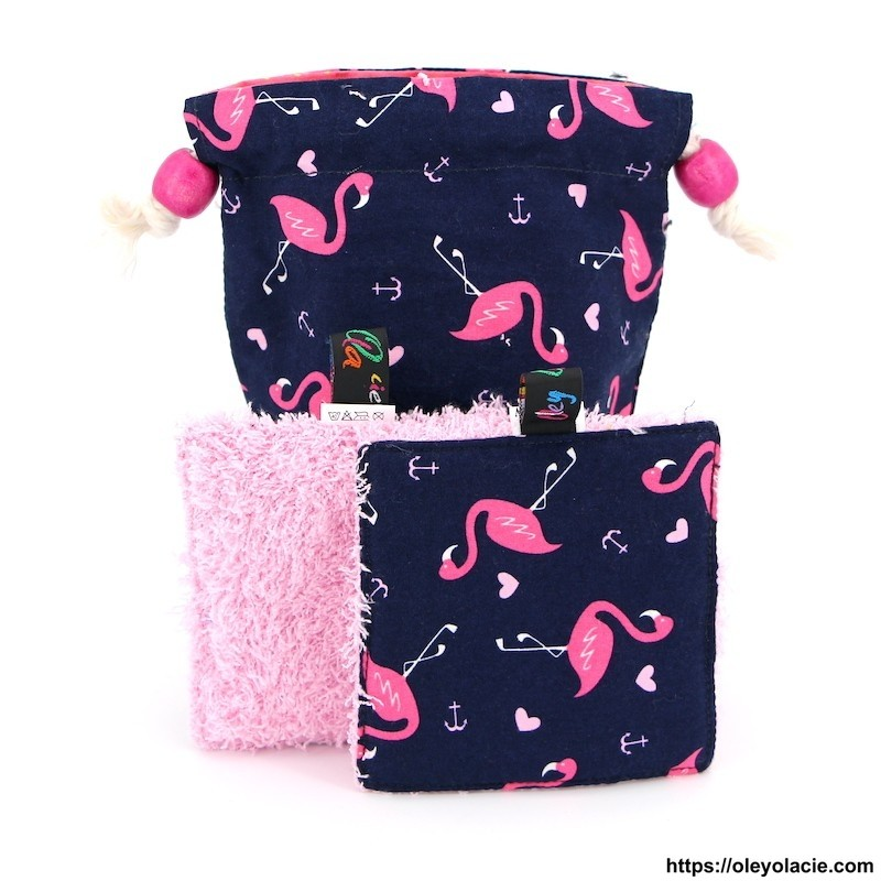 Lingettes lavables nomades ☀️ motif animaux - Oley Ola cie ®